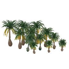 12PCS Model Coconut Palm Trees Z N Scale Train Diorama Beach Forest Scenery