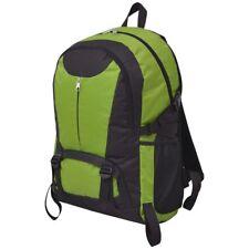 vidaXL Mochila Senderismo Capacidad 40L Poliéster Color Negra y Gris/Azul/Verde