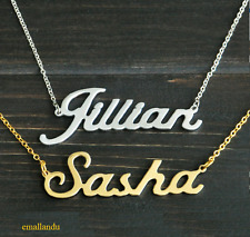 Name Necklace Pendant Custom Personalized Gold Silver Plated Jewelry Sale Gift