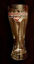 """Harley Davidson Cafe Pilsner Glass New York 8.5"""" Tall Beer Drinking Collectible"""