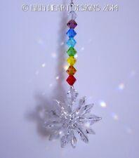 m/w Swarovski Crystal Mini Suncatcher Chakra Colors Rainbows Lilli Heart Designs