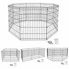New listing 30 Inch 8 Panels Tall Dog Playpen Large Crate Fence Pet Play Pen Exercise Cage