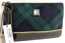 NEW*Dooney & Bourke*Green/Black/Highland*Tartan *Carrington Pouch 19016G S134B