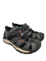 Keen Big Kids Gray/Orange Waterproof Hiking Newport NEO H2 Sandals Sz 1