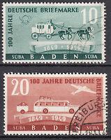 Französische Zone Baden Mi. Nr. 54-55 Gestempelt LUXUS!!!