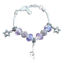 Girls Gymnastics European Bead Charm Bracelet