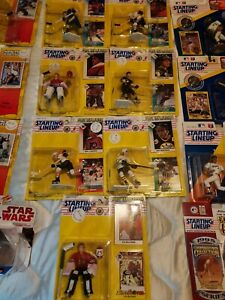 STARTING LINEUP ACTION FIGURE CARD AND COIN LOT OF 22 MARIO LEMIEUX WILLIE MAYS
