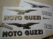 "Moto Guzzi 7 ""par texto & altísimos Eagle Motocicleta pegatinas Classic Bike Tanque"