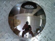 "(2) Stainless Steel Baby Moon 8"" Golf Cart Trailer Hub Cap Rim Yamaha EZGO"