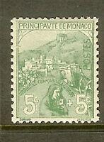 """MONACO STAMP TIMBRE N° 28 """" ORPHELINS DE LA GUERRE 5c+5c 1919 """" NEUF xx TTB"""