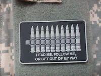 "PVC BULLET 3D PATCH ammo ""GET OUT OF MY WAY"" PJ MOLLE DEVGRU SOF UKSF PCU Hook"