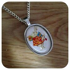 Alice in wonderland The white Rabbit necklace
