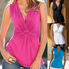Sexy Fashion Women Summer Vest Top Sleeveless Blouse Casual Tank Tops T-Shirt
