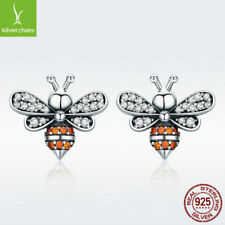 Bee Sweet Style Anti-allergy Jewelry S925 Sterling Silver Stud Earrings Little
