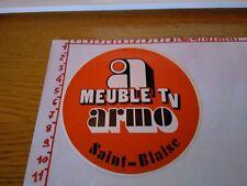 ADESIVO VINTAGE STICKER KLEBER MEUBLE TV ARINO SAINT BLAISE