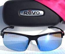 NEW* REVO CRUX S  in BLACK w Blue POLARIZED Lens Sunglass 4067x 02 $200 abyss