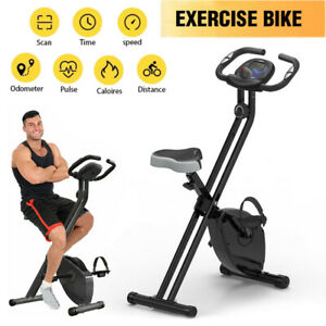 Folding Exercise Bike Fitness Stationary Bicycle Cardio Workout Indoor Cycling