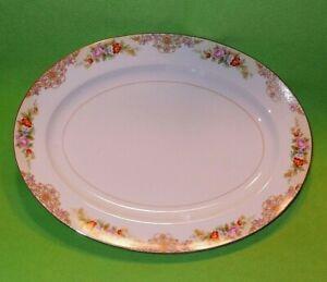 Vintage NORITAKE Imperial China porcelain serving platter FLORAL BOUQUET & other