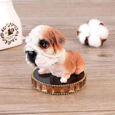 Bobble Head Bulldog Dog Figurine wiht Perfume Base Car Dashboard Home Decor CA