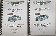 ASTON MARTIN DBS COUPE & VOLANTE PARTS MANUAL REPRINTED 2008 - 2012