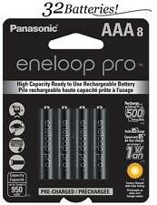 4Pk=32 Batteries Panasonic Eneloop Pro AAA NiMH Rechargeable Battery HR03 950mAh