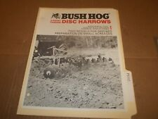 PY112) Bush Hog Sales Brochure 4 Pages - 3-Point Tandem Disc Harrows