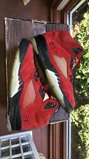 Air Jordan Retro 5 V Raging Bull Pack Toro Bravo Red    ONLY Size 9.5 136027-601