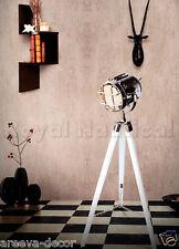 NAUTICA FARETTO proiettore treppiede in legno Lampada da Terra Illuminazione Spot Stand