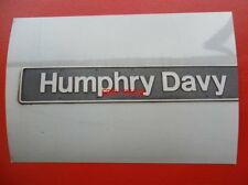 PHOTO  NAMEPLATE - HUMPHRY DAVY ON CLASS 60 LOCO NO 60069
