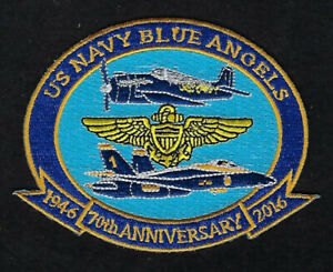 2016 BLUE ANGELS 70 ANNIVERSARY PATCH AIRSHOW F18  US NAVY MARINES AIRSHOW