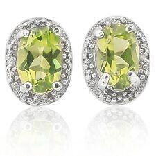 Ohrringe/Ohrstecker Lexie, 925er Silber, 1,012 Kt. echter Peridot/Diamant