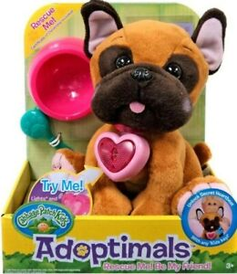 """Cabbage Patch Kids Adoptimals Rescue Me French Bulldog Puppy Dog Plush 9"""" Sounds"""