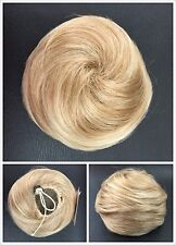 Hair Piece, Hair Bun With Elastic, Bridal Hair Bun, Two-tone Blonde 234/613