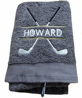 Personalised Golf Towel, Golfing Towel Golfing Gift Embroidered