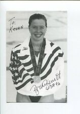 Brooke Bennett 3x US Olympic Gold Medal Swimmer Signed Autograph Photo
