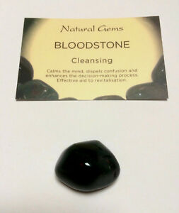 Bloodstone(heliotrope) 20-25mm with free organza  bag and card