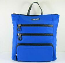 9eaf5ad24 Calvin Klein Nuevo $158 Athleisure Mochila Libro Bolsa Nylon Azul Negro