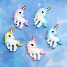 5X Cute Unicorn Flat Back Resin Cabochon for DIY Phone Embellishment Decor