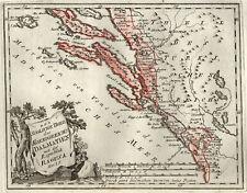 Kroatien Dalmatien Dubrovnik Süden Original Kupferstich Landkarte Reilly 1789