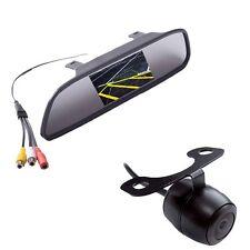 "Auto Car Parking Tool Kit 4.3"" On-Mirror Monitor w/ Mini Rear View Backup Camera"