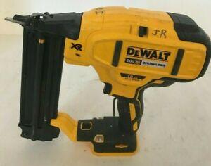 DEWALT DCN680  20V MAX Li-Ion XR 18 GA Cordless Brad Nailer Naiul Gun, VG #1