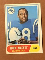 1968 Topps Football John Mackey Card #74 EX HOF Baltimore Colts