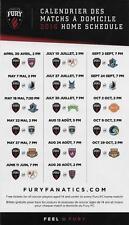 Ottawa Fury FC 2016 NASL Football Soccer Regular Season Magnet Schedule
