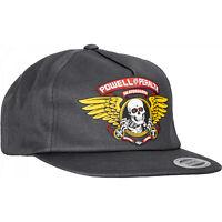 Powell Peralta Skateboard Hat Snapback Winged Ripper Charcoal