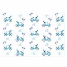 Valentine's Unique High Quality Bicycle/Hearts Design Wrap Blue-Size (297x420mm)