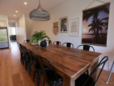 2 Metre Long Recycled Timber Hard Wood Dining Table With Optional Bench Seats
