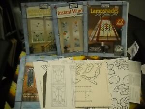 Lot of 4 - Gallery Glass Art/Crafts Booklets/Window Pattern - Unused