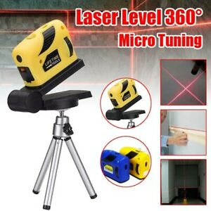 360°Rotary Laser Level Micro Tuning Cross Line Measuring Tool with Tripod Stand