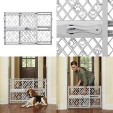 Pet Dog Gate Child Baby Safety Puppy Cat Door Expandable Barrier Plastic Fence--