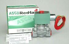 "ASCO Red Hat Solenoid Valve 8215G020 1/2"" NPT 120V. Fuel Gas Inert Gas Air 4KY41"